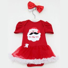 $enCountryForm.capitalKeyWord NZ - 2015 New Summer Baby Newborn Girls red Christmas Romper Dress with headwear Set One-Piece Outfits factory outlet A070831