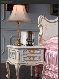 classics furniture Australia - Antique hand carved furniture - classic provincial home furniture- French classic bed stand bedroom furniture bed cabinet