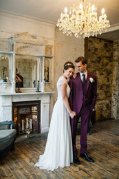 $enCountryForm.capitalKeyWord Canada - the hot sale for groom wedding suit men wool bleed custom made groom tuxedo purple(jacket+pant)