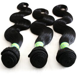 Human Hair Extensions Delivery Canada - 8A Peruvian Human Hair Weave natural Color Unprocessed Body Wave 10-28inch 3bundles lot Hair Weft Extension Fast Delivery