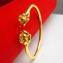 singapore 24k chain Australia - For a long time does not fade gold bracelet small woman 24K Gold Rose Bracelet imitation gold wedding jewelry in Hongkong