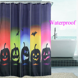 $enCountryForm.capitalKeyWord Canada - 2016New Design Halloween Pumpkin Squad Waterproof Polyester Shower Curtains Bath Bathing Sheer Curtain for Home Store School Hostel Decorati