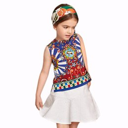 Petigirl 2pcs New Designs Ethnic Style Girls Dress Set Fashion Printed Sleeveless Tops white dresses for girls kids Clothing CS90124-537F from new summer tops dresses design manufacturers