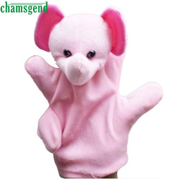 cute puppets UK - 2017 funny Glove Puppet Hand Dolls Cute Big Size Animal Plush Toy Baby Child Zoo Farm Animal Hand Glove Plush Toy Best-seller S7