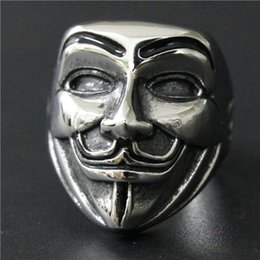 $enCountryForm.capitalKeyWord Canada - Size 7-14 Team Leader V Smile Mask Skull Ring 316L Stainless Steel Man Women Motor Punk Vintage Ring