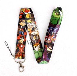 China Popular Lanyard 20 pcs Anime Cartoon Character Avengers Style Lanyard Key Chains Pendant Children Toy Gifts Party Favors suppliers