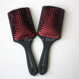 Masaje De Peluquería Baratos-Anti-static Barber Salon Hair Care Styling Tool Filas Cepillo de Peine de Masaje Tine Detangle Paddle Cepillo de Pelo