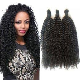 afro kinky bulk braiding hair 2019 - Peruvian human hair bulk for braiding afro kinky curly natural color bulk hair no weft G-EASY discount afro kinky bulk b