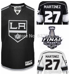 df6bd9ecb ... 2016 NEW Los Angeles Kings Hockey Jerseys Alec Martinez Jersey 27 Home  Black White LA Kings ...