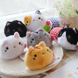 "neko doll 2019 - Hot Sale 6pcs Lot Neko Atsume Cat Backyard Cat Meow Collection Dango Mochi Anime Cat Plush Doll 3.5"" cheap neko dol"