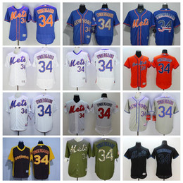 best sneakers 428d7 eeac8 mens new york mets 34 noah syndergaard blue jersey with 2015 ...