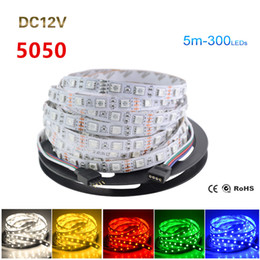 12v lamp flexible 2019 - 5050 SMD RGB LED Strip Non-waterproof 60Led m Fita De Led Tape RGB Flexible LED Light 12V Christmas Lamp for Home Lighti
