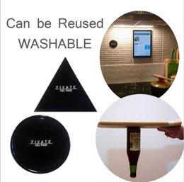 Fixieren Sie Zell-Pads, klebrige Anti-Rutsch-GEL Pads - Stick auf Glas, Spiegel, Whiteboards, Metall, Küchenschränke oder Fliesen, Auto GPS