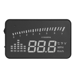 "Car Heads Up Display Canada - X5 3"" Universal Auto Car HUD Head Up Display X3 Overspeed Warning Windshield Project Alarm System OBD2 II Interface"