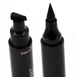 Waterproof stamp online shopping - Miss Rose brand makeup liquid eyeliner pencil quick dry waterproof eye liner black color with stamp beauty eye pencil