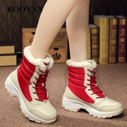 $enCountryForm.capitalKeyWord Australia - High Quality Snow Boots Warm Shoe ankle Boots Women Winter Warm Shoe Classic Boots Fashion Cotton Shoes Flat Heel 2017 Koovan W302