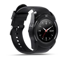 $enCountryForm.capitalKeyWord Canada - Full Screen Smart Watch V8 Clock With Sim TF Card Sync Notifier Smartwatch For IOS Android Sport Watch PK GT08 Wearable Watch