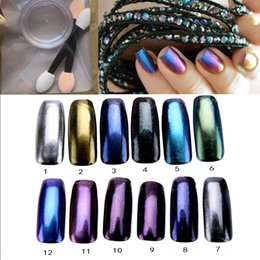 Chrome Powder Canada - Wholesale- New Arrival 3g box Mirror Effect Nail Chrome Magic Powder Nail Art Blingbling Gel Pigment Magical Dust Powder DIY Nail Glitter