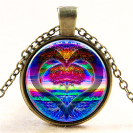 $enCountryForm.capitalKeyWord Canada - New Arrival Fashion Magic Rainbow Heart Tree of Life Charm Pendant Necklaces Gold Silver Chain Gorgeous Necklace European Style Jewelry
