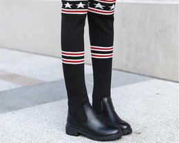 $enCountryForm.capitalKeyWord NZ - Christmas womens boot socks leg warmers lace button winter Leggings Warm up knitted booty Gaiters foot cover knee high socks
