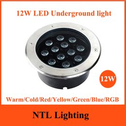 Wholesale New 12W LED Underground Lamp AC85 260V Outdoor Waterproof IP65  LED Spot Floor Garden Yard LED Inground Light CEu0026RoHS Freeship