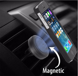 magnet air Australia - Car Phone Mount Holder Air Vent Mount Universal Magnet Cellphone Holder with 360 Rotate for iphone DHL Free