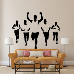$enCountryForm.capitalKeyWord Canada - Five Athletes Wall Stickers Living Room Bedroom Office Walking Sportsman Wall Decal Home Decor Wall Applique Wallpaper Poster for Wall Decor
