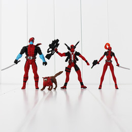 x men movie action figures 2019 - American Movie X-Men Deadpool PVC Action Figure Collectible Toy Doll 4.5-11.5cm 4pcs set Free Shipping EMS