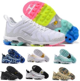 Chaussures Authentiques Chine Pas Cher-Chaussures de course Max Tn Hommes Femmes Hommes Hommes Chaussures de sport blanches Chaussures de course Plus Maxes Chaussures de course de marque de la Chine Taille 5