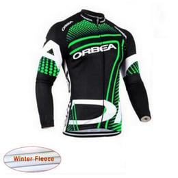 Venta al por mayor de 2017 Pro Transpirable Ciclismo polar de lana Jersey MTB Bike Ropa de Manga Larga Bicicleta Maillot Ciclismo Sportwear
