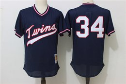 c4cc2a361fd ... MLB Jersey Mens Minnesota Twins 34 Kirby Puckett Mitchell Ness Navy  1985 Authentic Cooperstown Collection Mesh Batting Practice ...