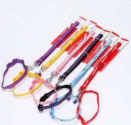 Led Cartoon NZ - Nylon Applique Dog Cat Pet Leash&Collar Cartoon Cute Dog Harness Good Qualty Dog Lead Rope Pet Supplier Mix Color 2 Size 20PCS LOT