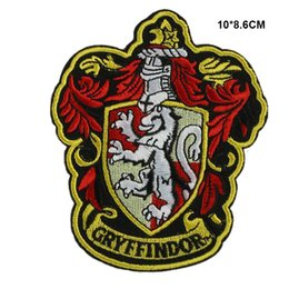 Barato Remendos De Ferro Harry Potter-Harry Potter Gryffindor Ferro em Patches Embroidery Patches 10pca muito 001
