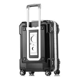20 24 28 Zoll größere Kapazität ABS PC Aluminium Rahmen Gepäcktasche Commercial Boarding Fall Trolley Reise Koffer Passwort Box Handtasche