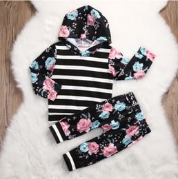 Niña Pequeña 4t Ropa Linda Baratos-Los niños del niño Baby Girl Clothes Tops sudaderas con capucha de manga larga sudadera pantalones 2pcs Cute Girls Clothing Outfits Set