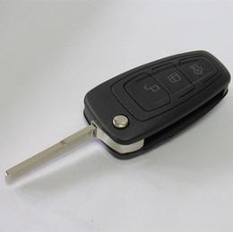 $enCountryForm.capitalKeyWord Canada - Free shipping 3 button flip folding key shell case for FORD FOCUS car key blank FOB key cover