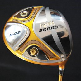 Chinese  New Golf Clubs HONMA BERES S-02 Golf Driver 9 10 loft with Graphite golf shafts and Golf headcover Free shipping manufacturers