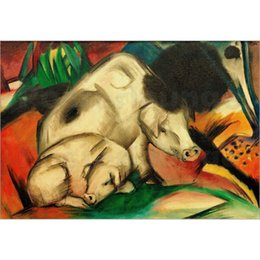 Marc Painting Australia - Abstract modern art Schweine (Mutterschwein) by Franz Marc Oil Painting reproduction High quality Hand painted