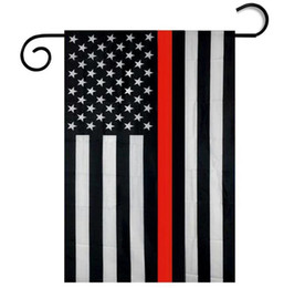 $enCountryForm.capitalKeyWord NZ - 30*45CM USA Police garden Flags flag Blue Red Line Thin Black White And Blue american us Flag home party decoration wholesale