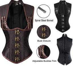ca98bed7ead 2019 Sexy Women Autumn Punk Corsets  Bustiers Shaper Slim Body Leather  Steel Boned Corset Plus Size Gothic Style V-neck Fashion Good Quality