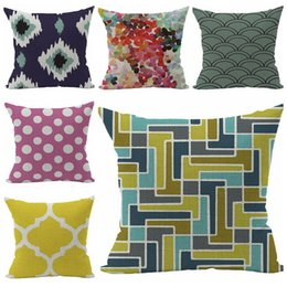 ikat cushion cover colorful geometric sofa throw pillow case dot dots home decor almofada for chair couch