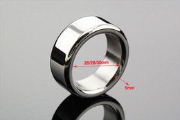 $enCountryForm.capitalKeyWord NZ - Penis Lock Ball Stretcher Cock Rings Male Chastity Device Cock Ring Stainless Steel BDSM Penis Ring Delay Time Adult Sex Toys for Men