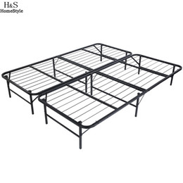 Kings furniture online shopping - Homdox King Size Metal Folding Platform Bed Frame Base Mattress Foundation Black