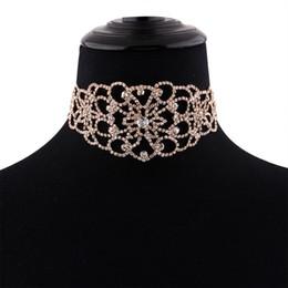 9c44305cdd70 Nueva gargantilla de diamantes de imitación 2017 Crystal Maxi collar de la  declaración Collar de lujo chocker gruesos collares joyas góticas Boho