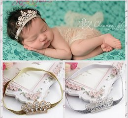 Luxury Baby Gifts NZ - Baby Infant Luxury Shine diamond Crown Headbands girl Wedding Hair bands Children Hair Accessories Christmas boutique party supplies gift
