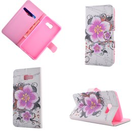 Fleurs De Plumes De Diamant Pas Cher-Pour Galaxie G530 / A310 / A510 / A710 / S7 / bord Girly Bling Diamant strass Stand Magnetic Flip Cover Portefeuille en cuir Feather Flower Pouch