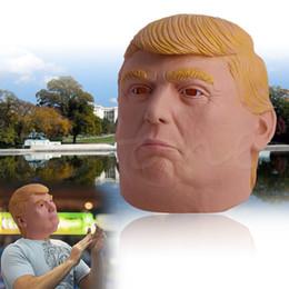 Costumes Donald Pas Cher-Funny Donald Trump Mask Billionaire Presidential Latex Human Full Face Mask USA Président Candidat Election Costume Cosplay Gift NOUVEAU