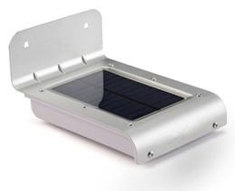 16led Solar Lights UK - 16led LED soalr light Outdoor Wireless Solar Powered PIR Motion Sensor Light Wall light Led sensor lamp 2nd Generation LLFA