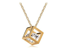 $enCountryForm.capitalKeyWord UK - Fashion Happy Cube Necklaces Pendant For Women Best Gift High Quality Zircon Crystal Necklace Jewelry G017