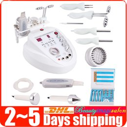 Machine À Microdermabrasion Au Diamant 5in1 Pas Cher-New Arrival 5in1 Diamond Microdermabrasion Dermabrasion Photon Skin Scrubber BIO Micro-courant Facial Care Anti-âge Beauty Machine Spa